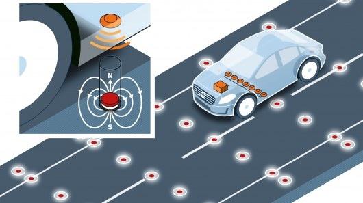 Volvo sử dụng nam châm để giúp xe tự lái đi đúng làn đường